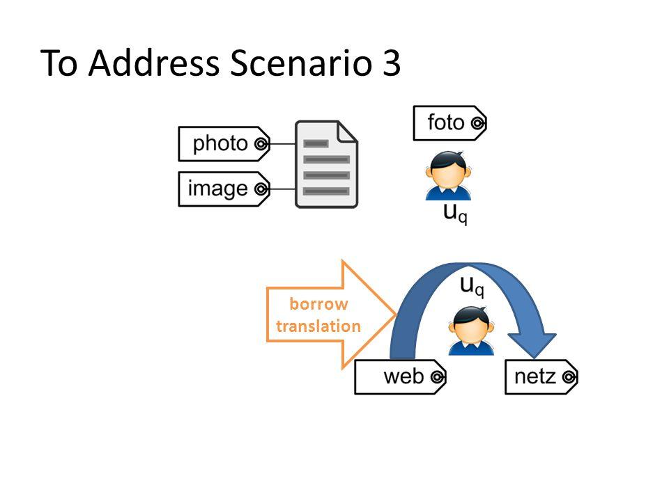 To Address Scenario 3 borrow translation