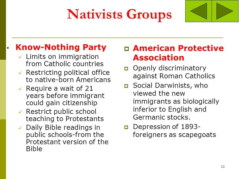 Cartoon Interpretation: Is this a pro or anti Nativist cartoon? Pro Anti 10