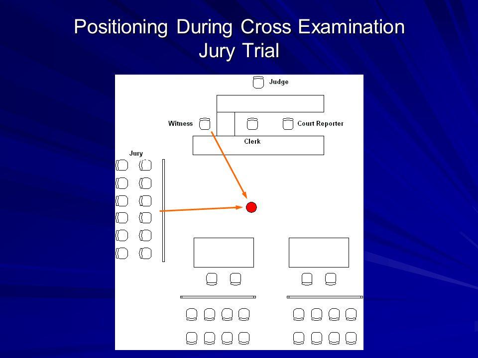Positioning During Cross Examination Jury Trial