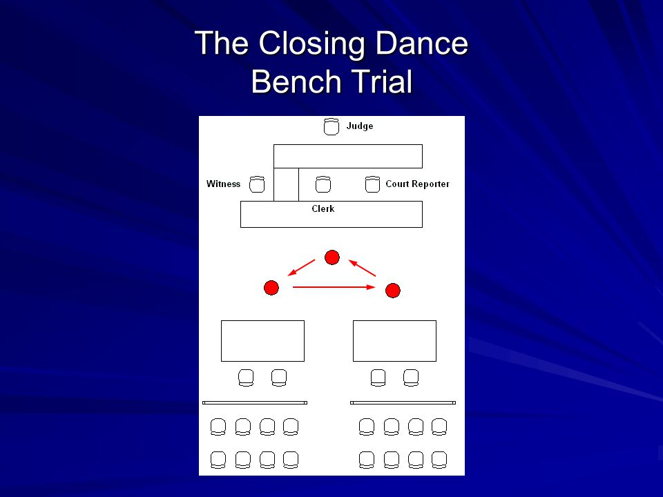 The Closing Dance Bench Trial