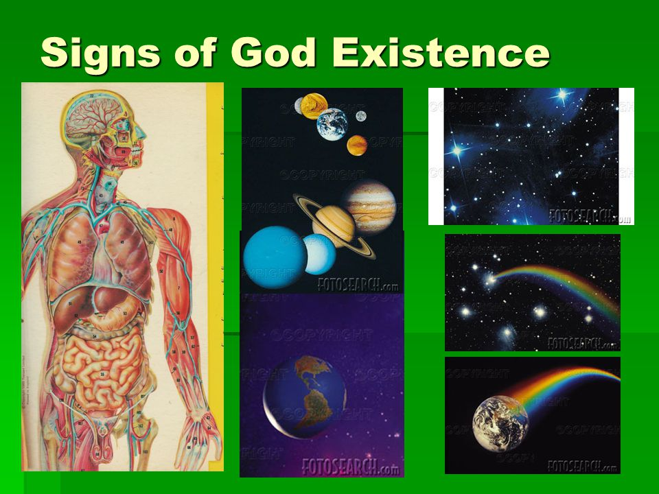 Signs of God Existence