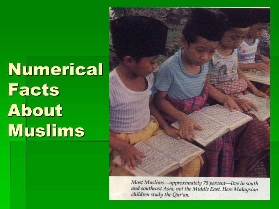 Numerical Facts About Muslims