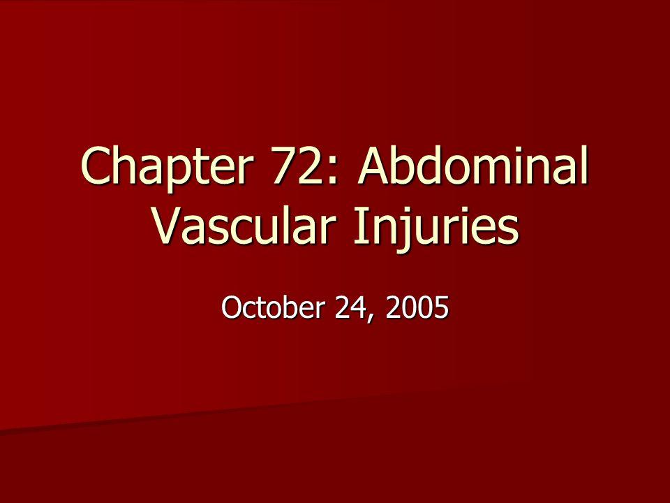 Chapter 72: Abdominal Vascular Injuries October 24, 2005