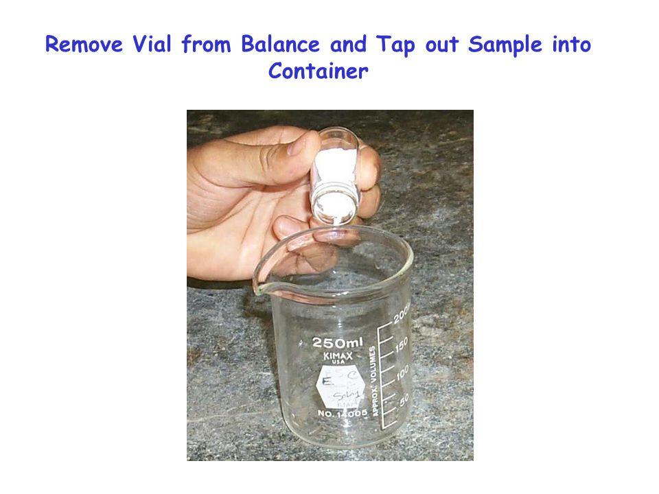 Reweigh Vial 14.6402 g 14.7936 - 14.6402 = 0.1534 g = 153.4 mg