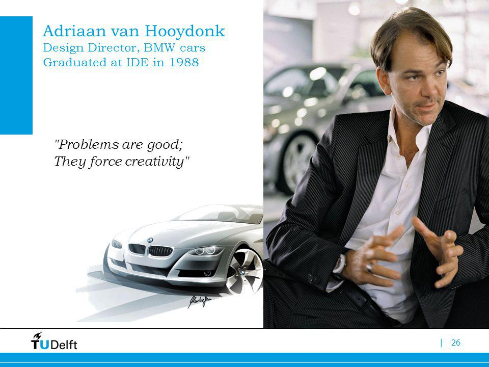 |26 Adriaan van Hooydonk Design Director, BMW cars Graduated at IDE in 1988