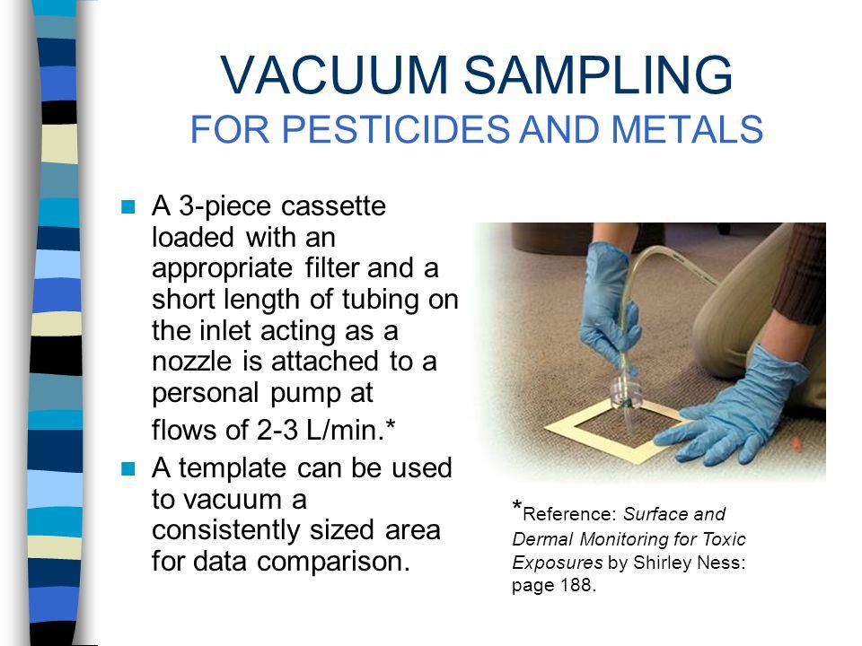 SURFACE SAMPLING OF VOLATILE CONTAMINANTS Wipe sampling is not effective for many volatile contaminants.