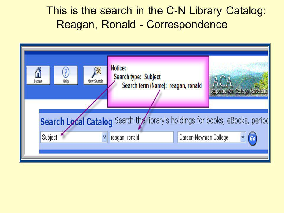These are the results of the search in the C-N Library Catalog: