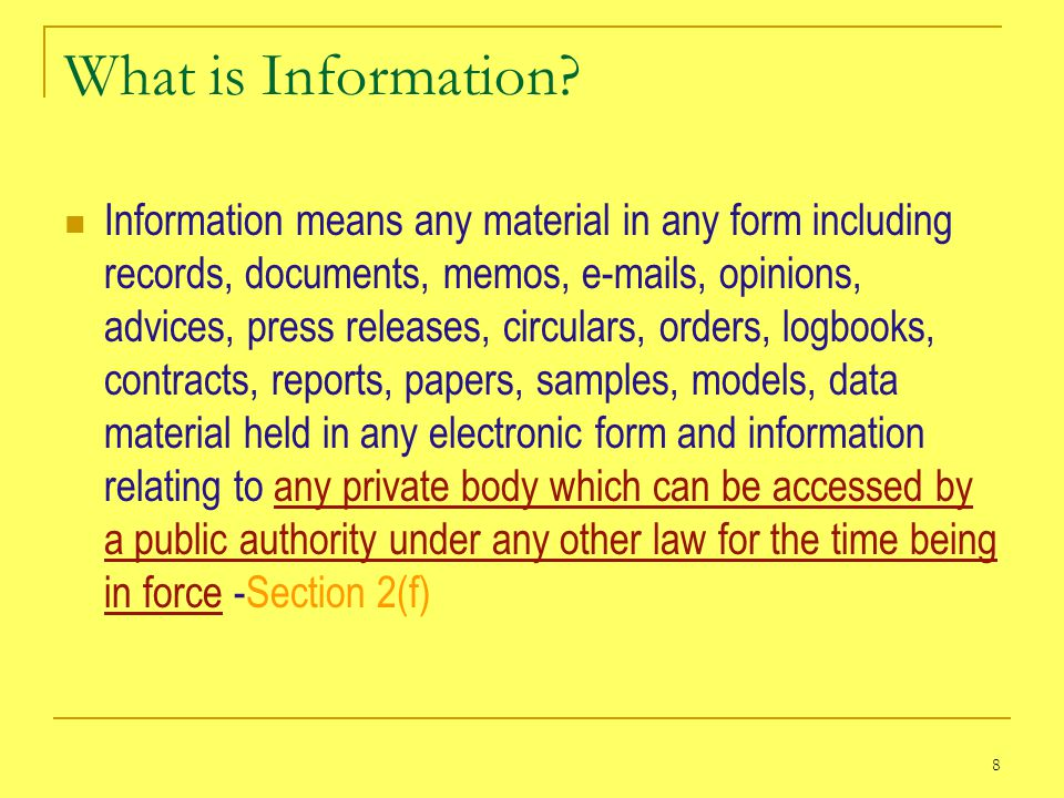 8 What is Information.