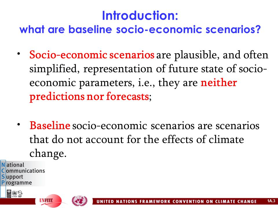 1A.34 Example: Developing socio-economic scenarios for V&A assessment in water resource sector (Indonesia) Step 4: Estimate per capita water withdrawal 20102020203020402050 water withdrawal per capital 563.45542.17570.05763.981161.97 water withdrawal per capital 561.97539.90565.95786.871803.13