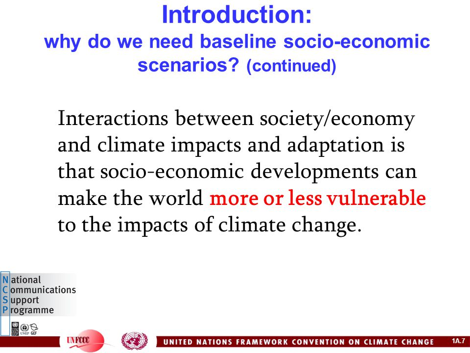 1A.28 Example: the IPCC SRES Scenarios – the scenarios