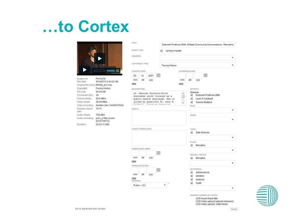 …to Cortex