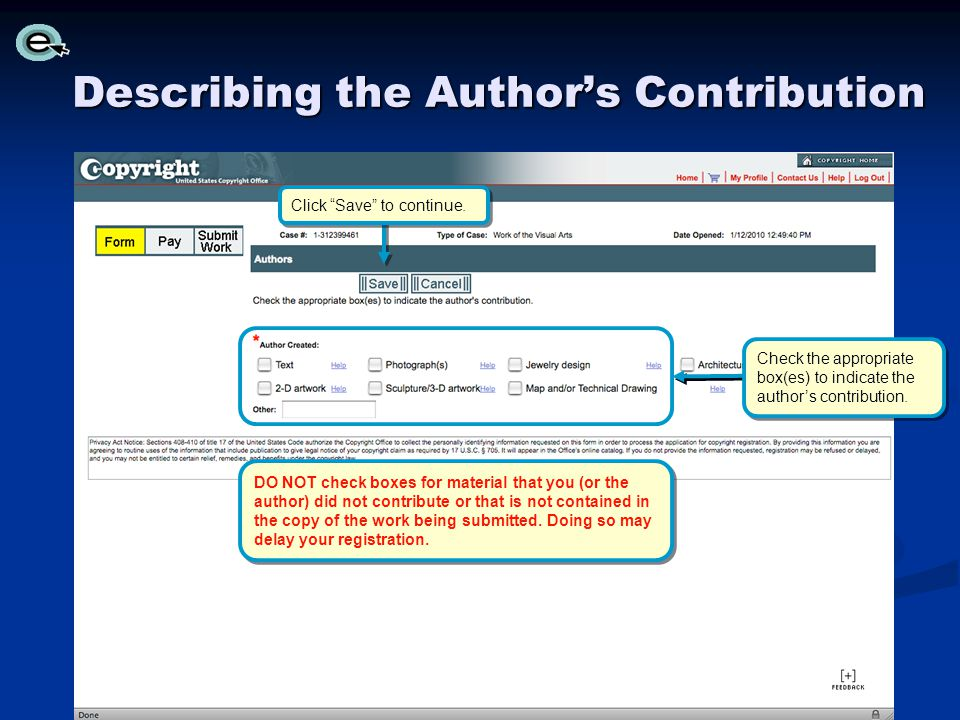 Check the appropriate box(es) to indicate the authors contribution.