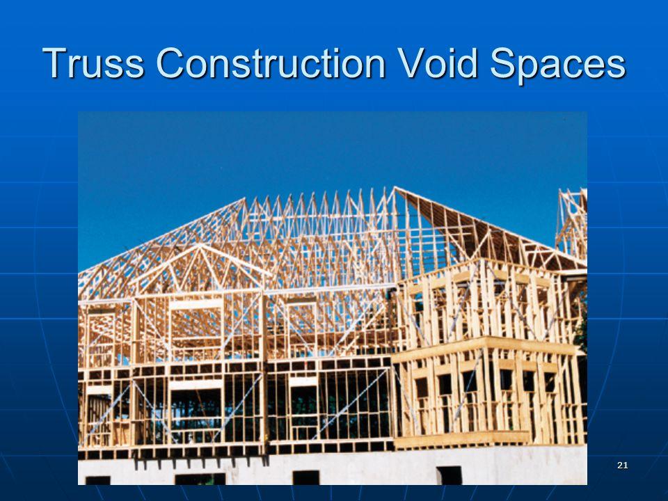 21 Truss Construction Void Spaces