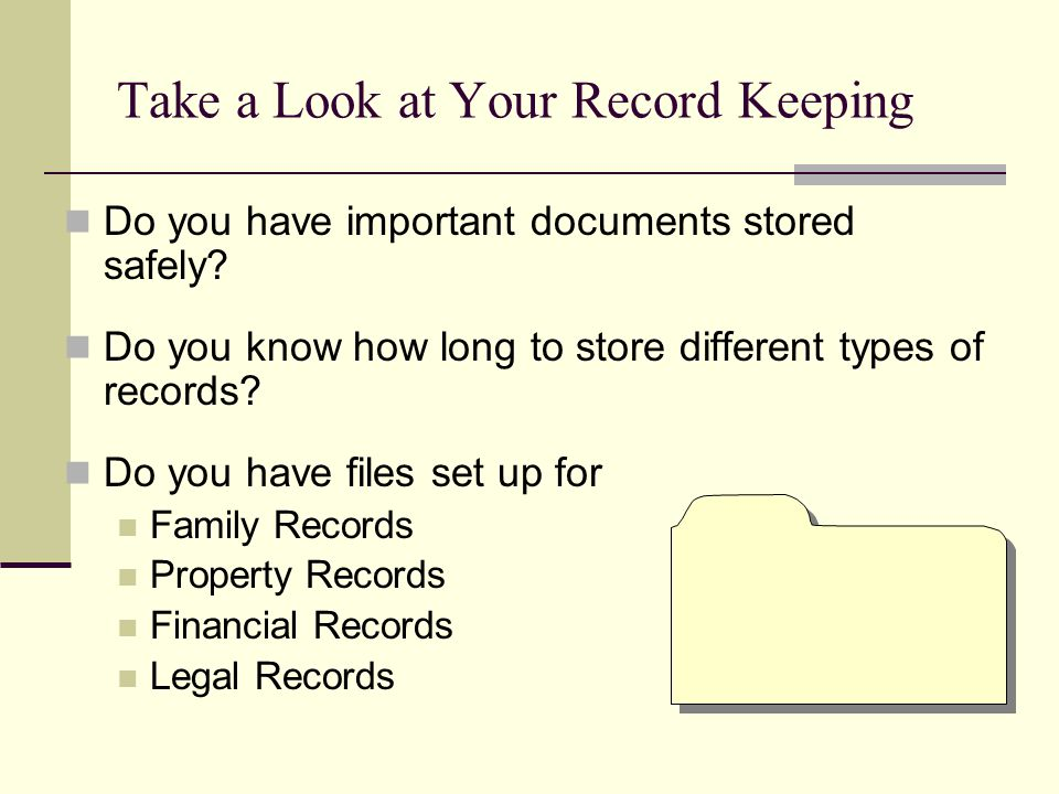 Do you have important documents stored safely.