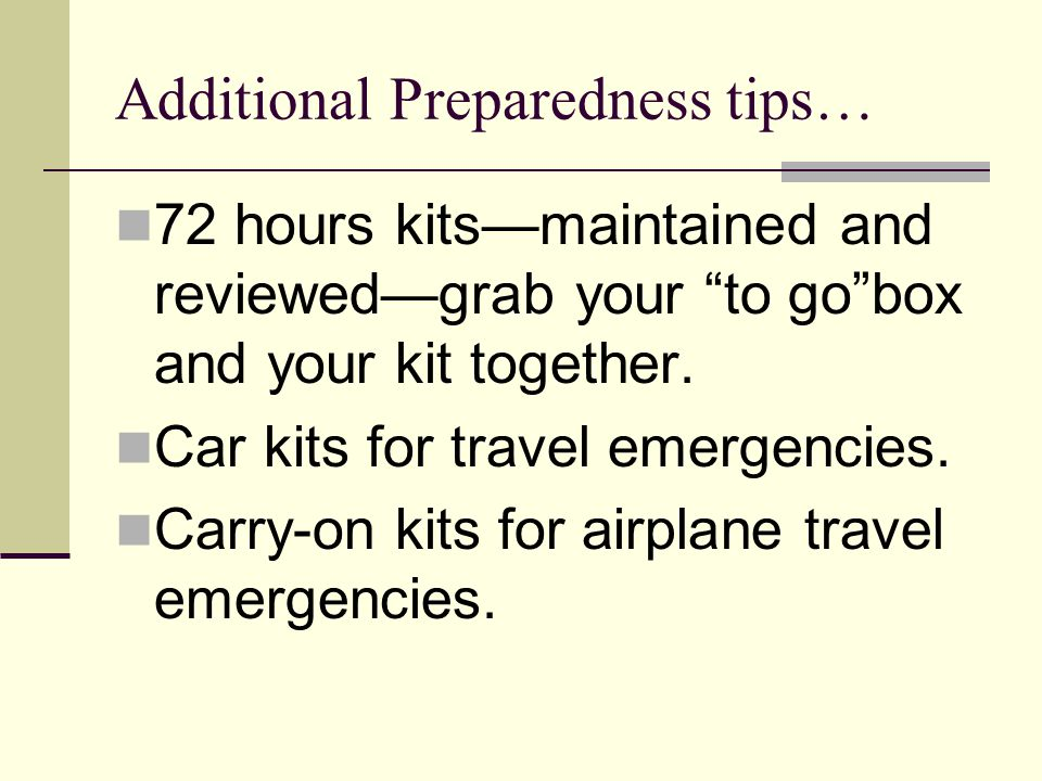 72 hours kitsmaintained and reviewedgrab your to gobox and your kit together. Car kits for travel emergencies. Carry-on kits for airplane travel emerg