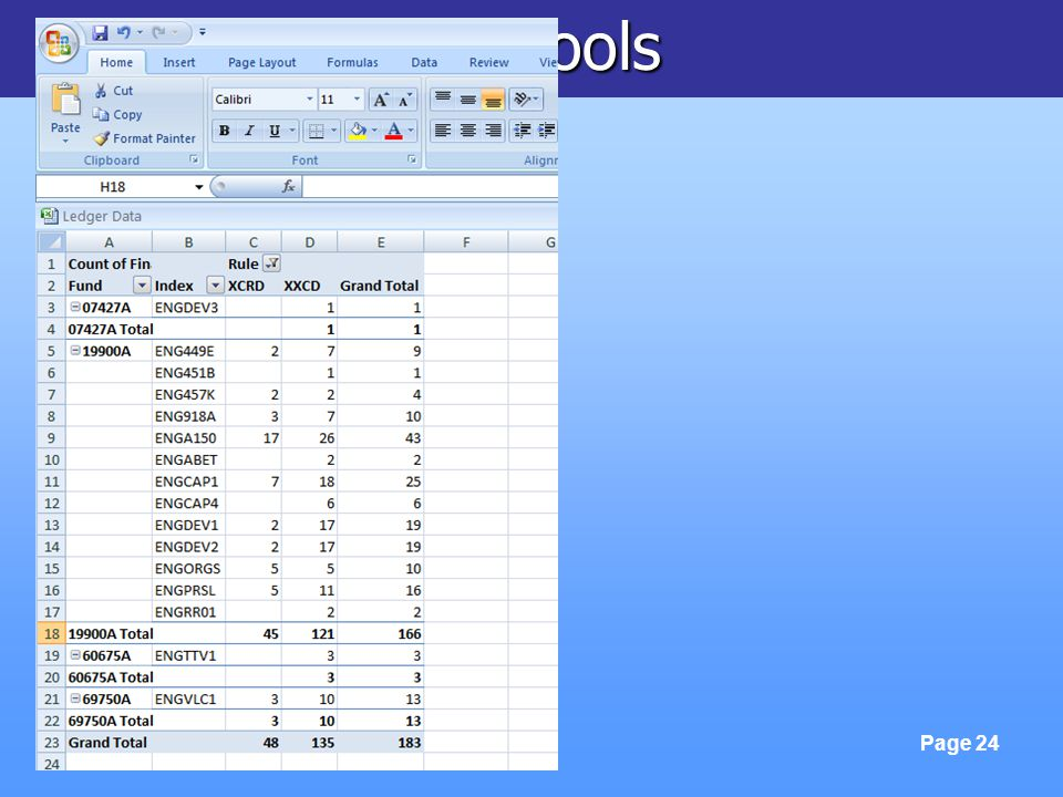 FinLink & Excel Tools Page 24