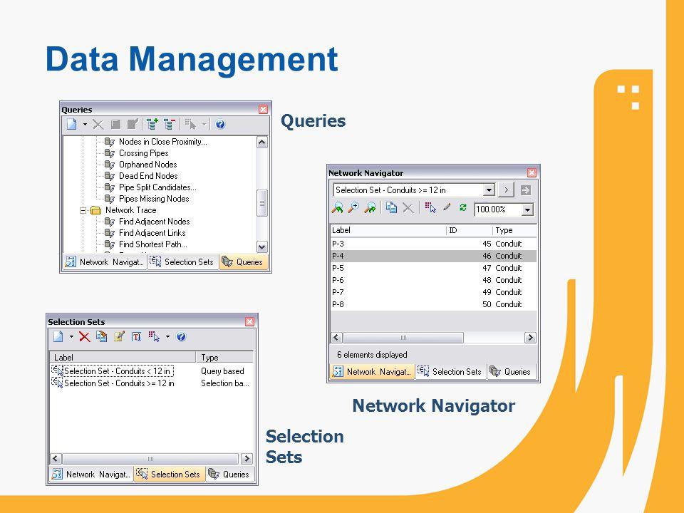 Data Management Network Navigator Queries Selection Sets
