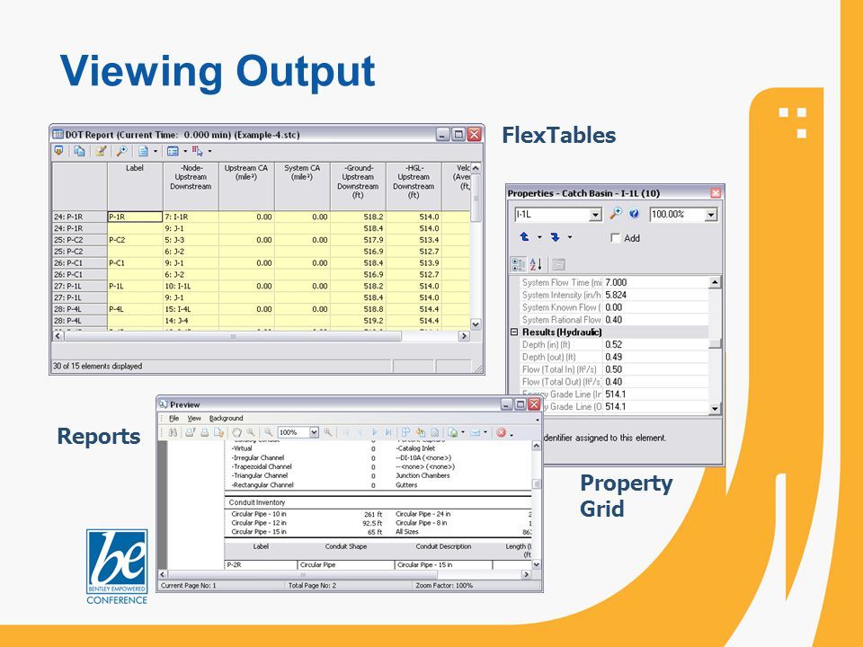 Viewing Output FlexTables Reports Property Grid