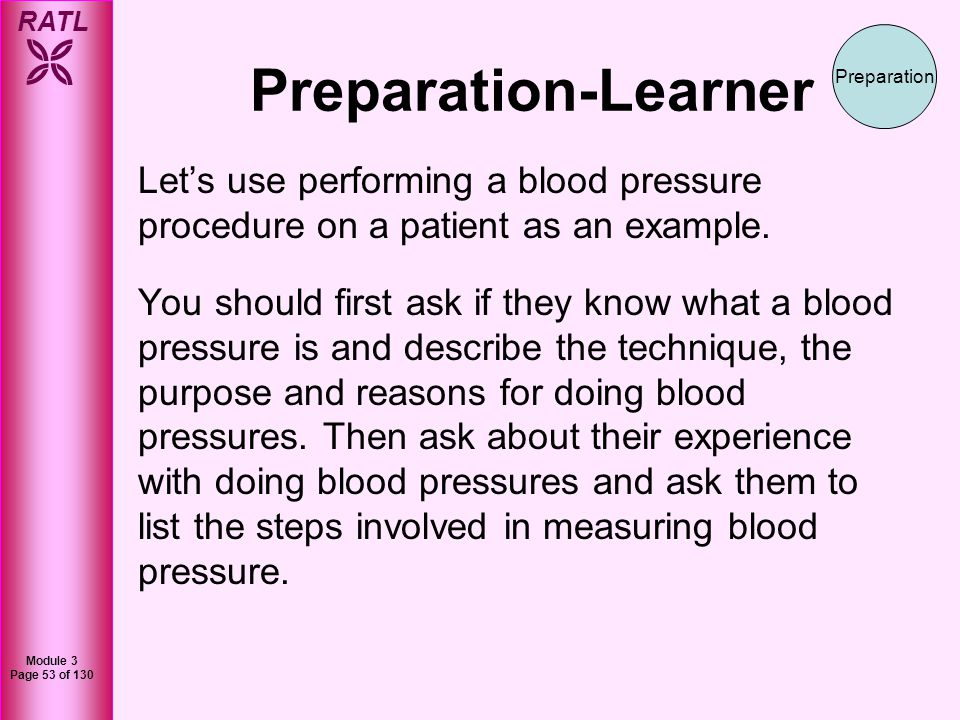 RATL Module 3 Page 54 of 130 Preparation-Learner Answer questions appropriately and direct learners to self-learn.