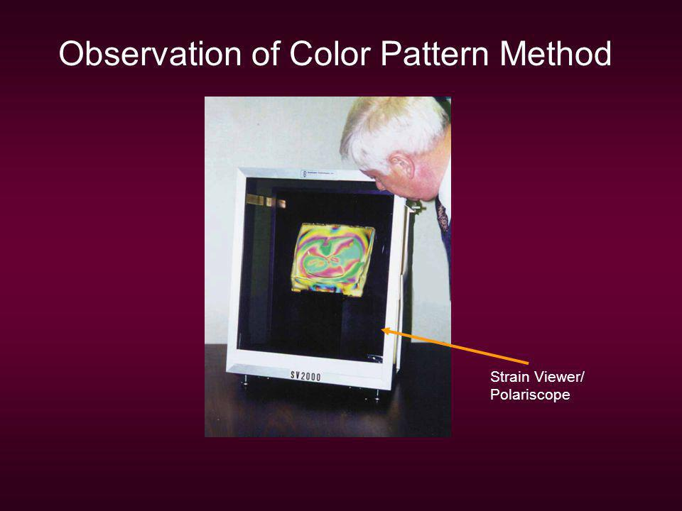 Observation of Color Pattern Method Strain Viewer/ Polariscope