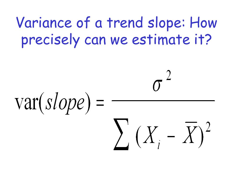 Variance of a trend slope: How precisely can we estimate it