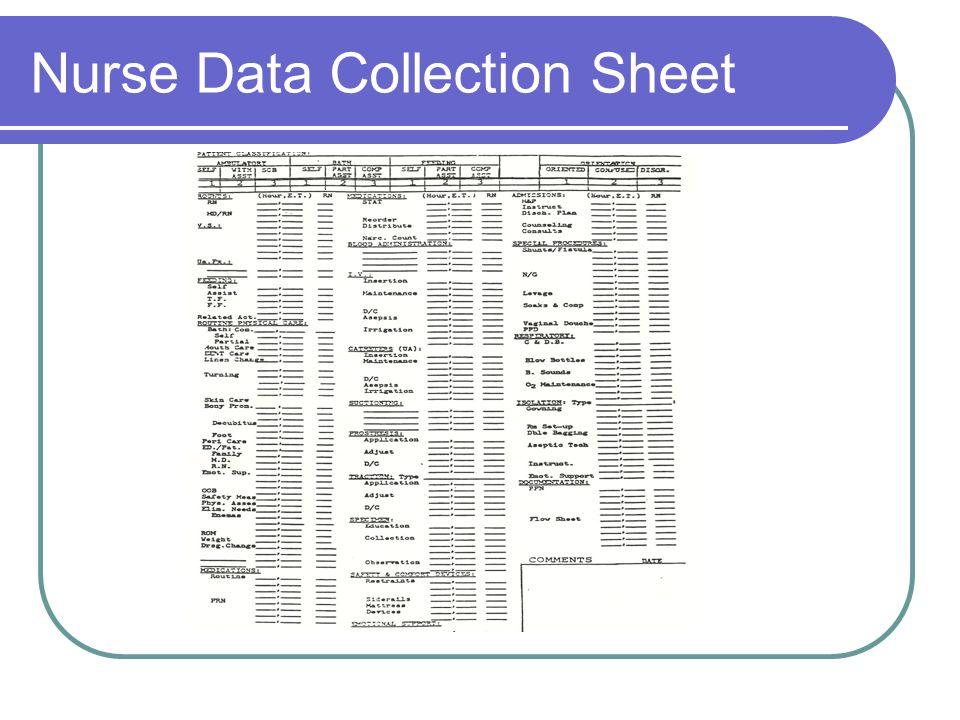 Nurse Data Collection Sheet
