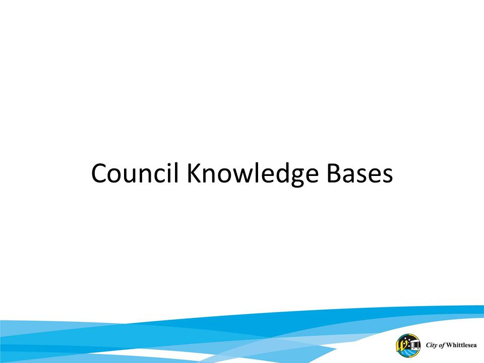 Council Knowledge Bases