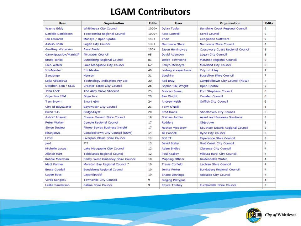 LGAM Contributors