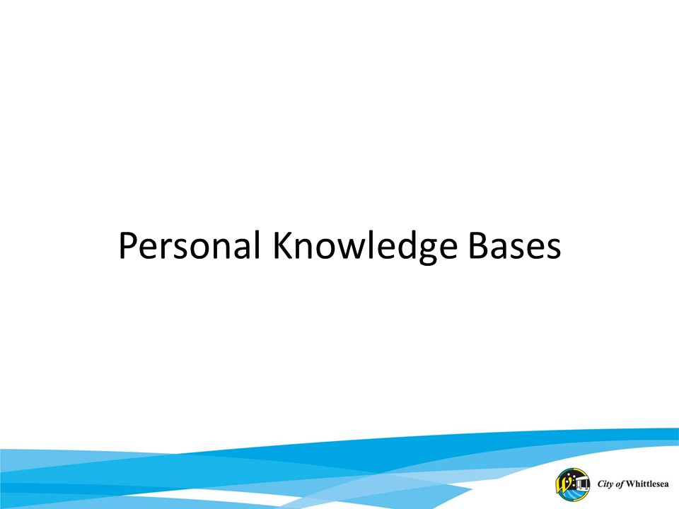 Personal Knowledge Bases