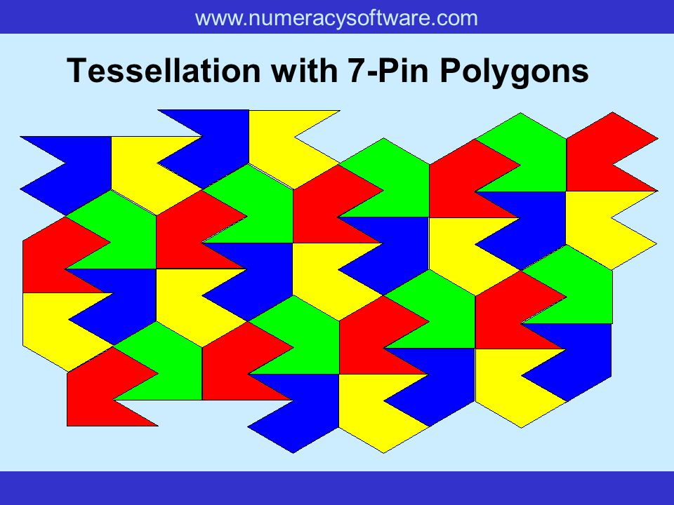 www.numeracysoftware.com Tessellation with 7-Pin Polygons