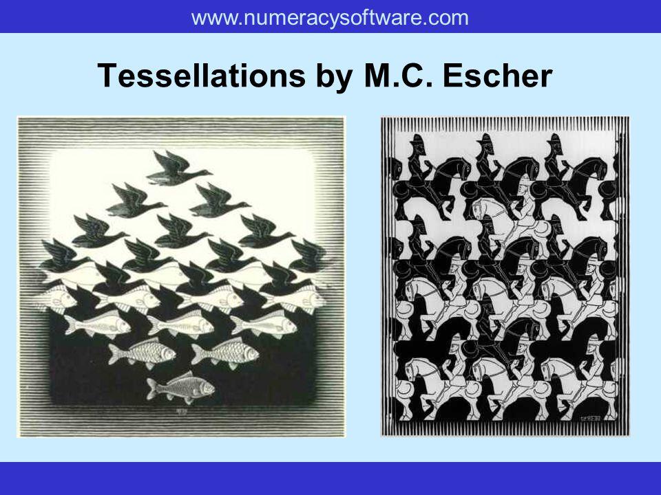 www.numeracysoftware.com Tessellations by M.C. Escher
