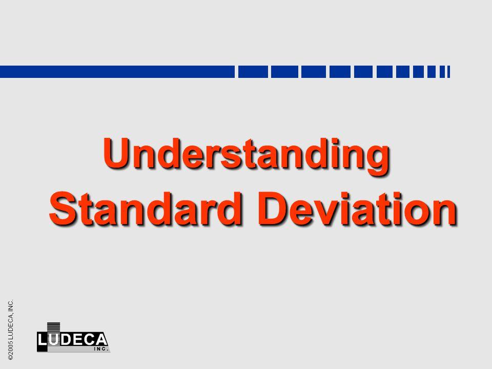 ©2005 LUDECA, INC. Understanding Standard Deviation