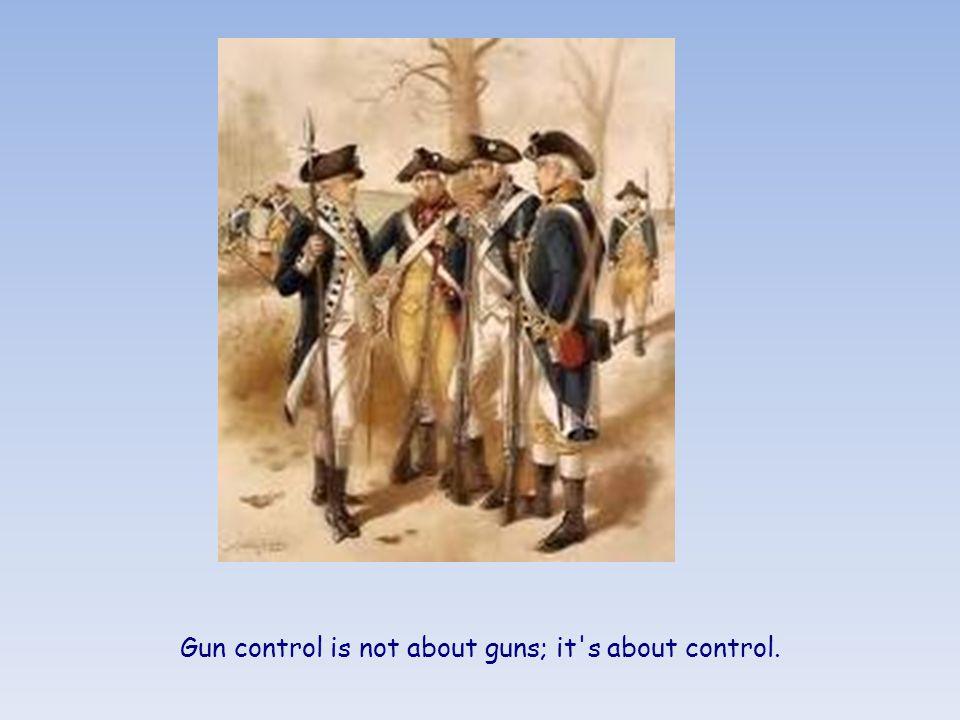 An armed man is a citizen. An unarmed man is a subject