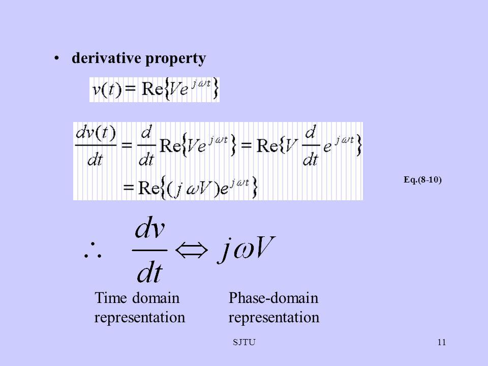 SJTU11 derivative property Eq.(8-10) Time domain representation Phase-domain representation