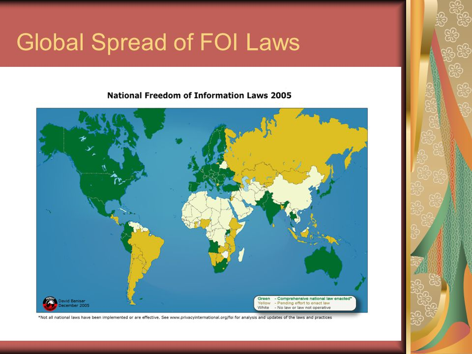 Commonwealth Human Rights Initiative Global Spread of FOI Laws