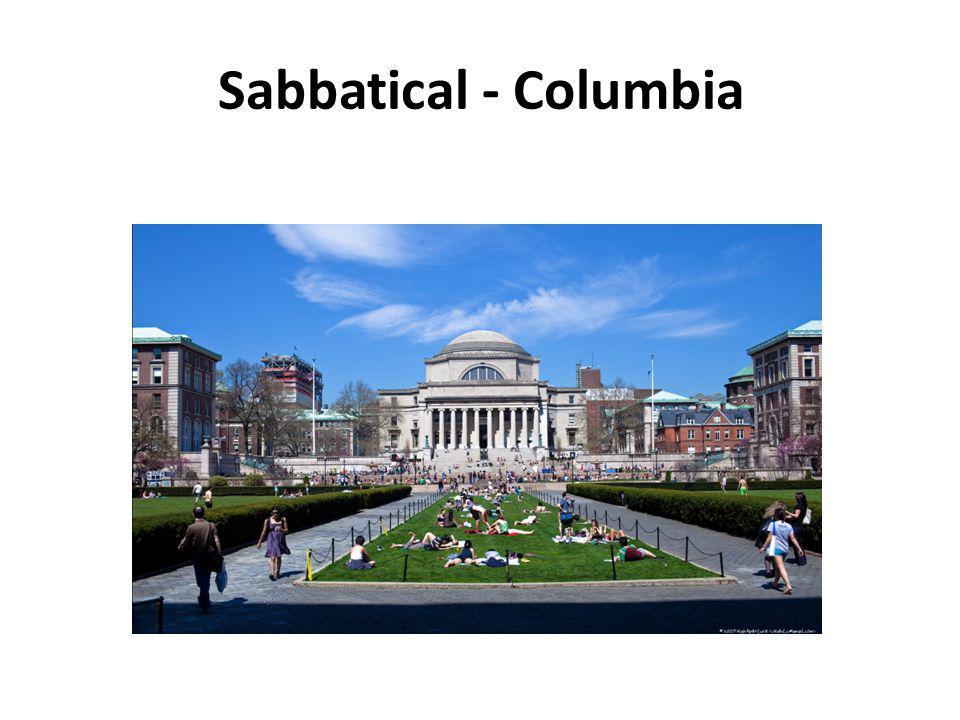 Sabbatical - Columbia