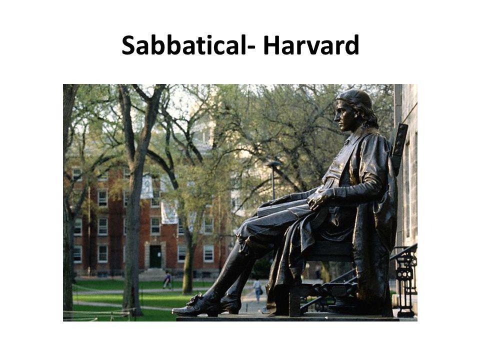 Sabbatical- Harvard