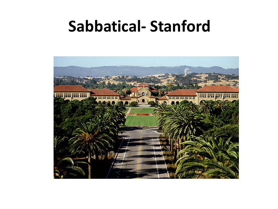 Sabbatical- Stanford