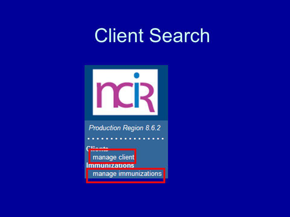 Client Search