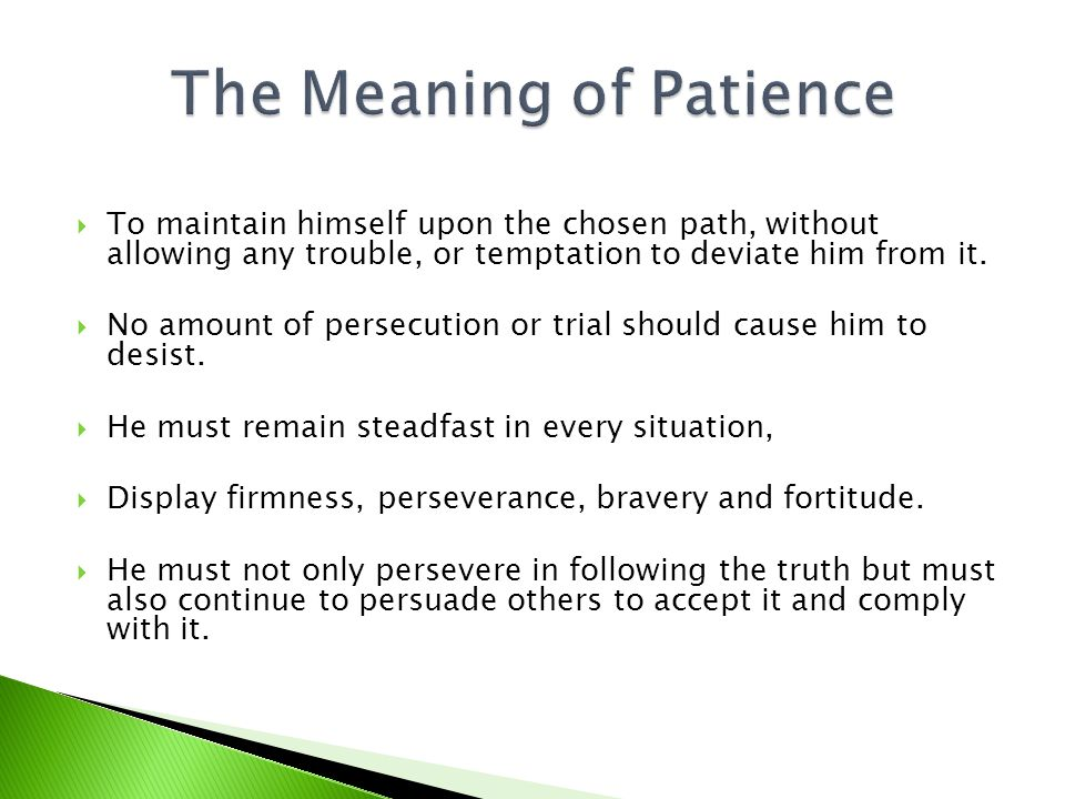 To maintain himself upon the chosen path, without allowing any trouble, or temptation to deviate him from it.