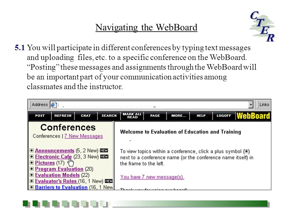 You will participate in different conferences by typing text messages and uploading files, etc.