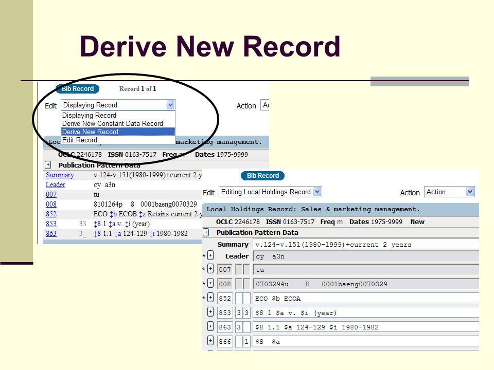 Derive New Record