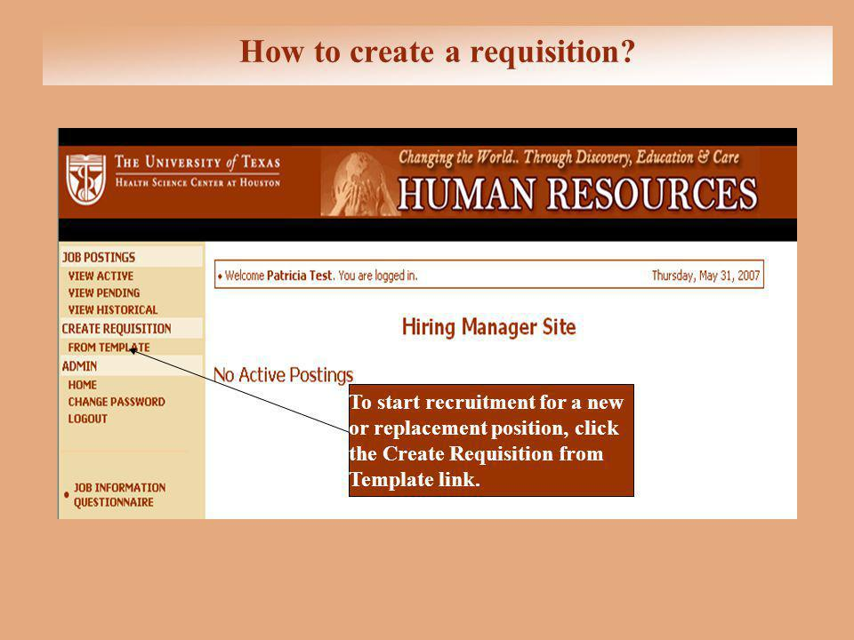 How to create a requisition.