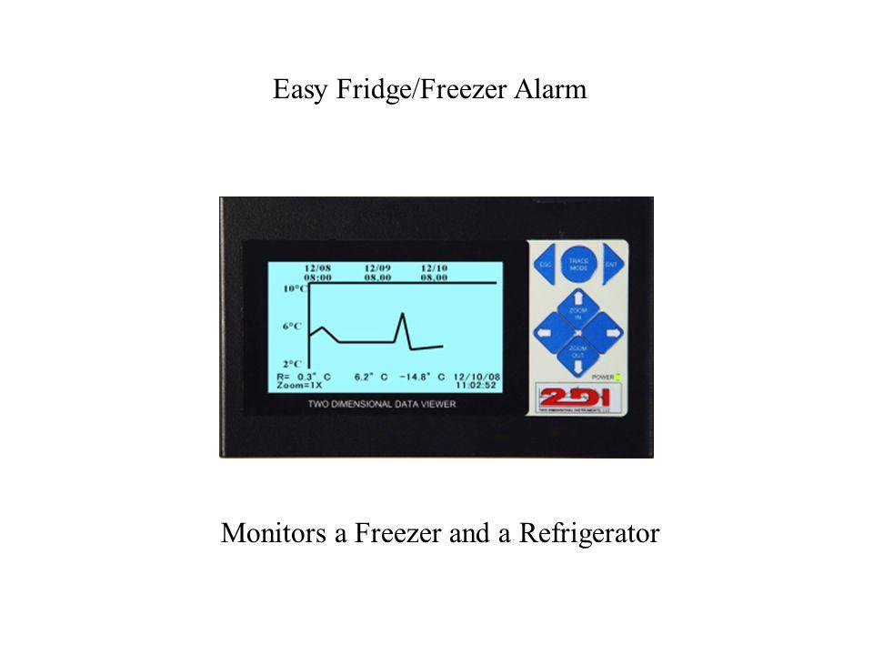 Easy Fridge/Freezer Alarm Monitors a Freezer and a Refrigerator