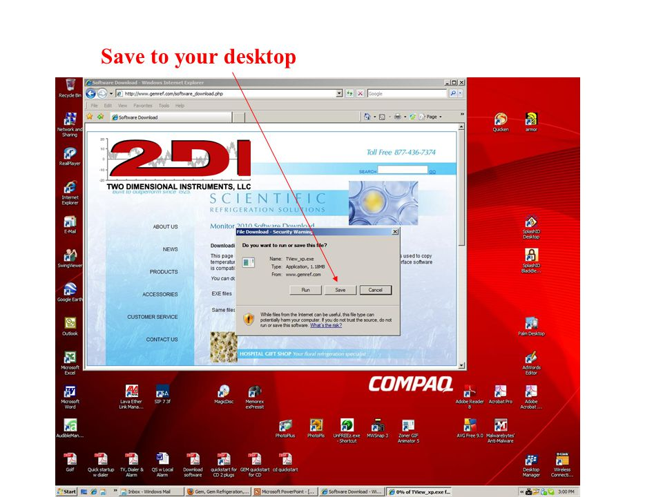 Click on the TView icon on your desktop to open the PC download software.