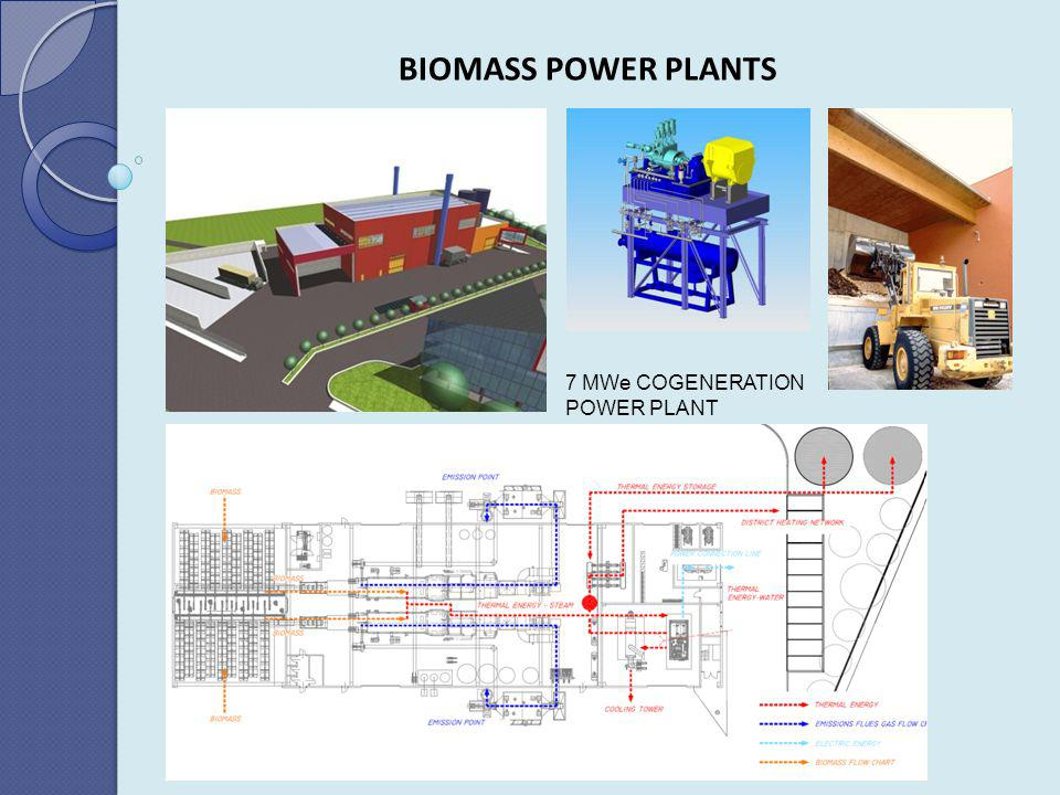 BIOMASS POWER PLANTS 7 MWe COGENERATION POWER PLANT