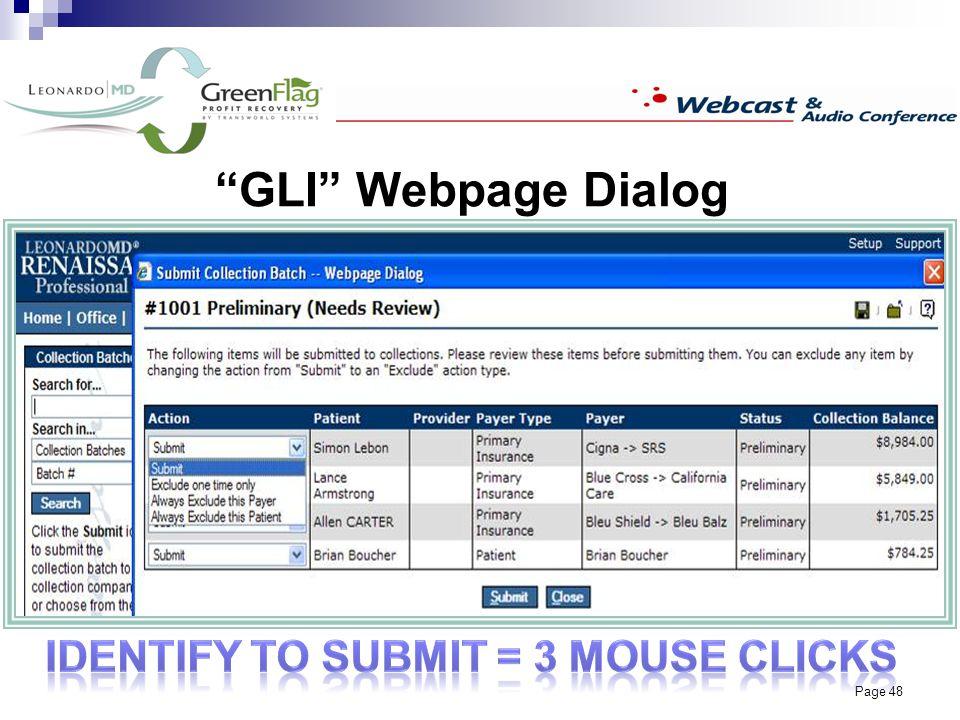Page 48 GLI Webpage Dialog
