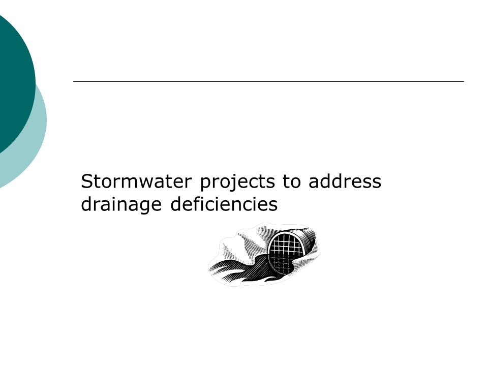 Stormwater projects to address drainage deficiencies