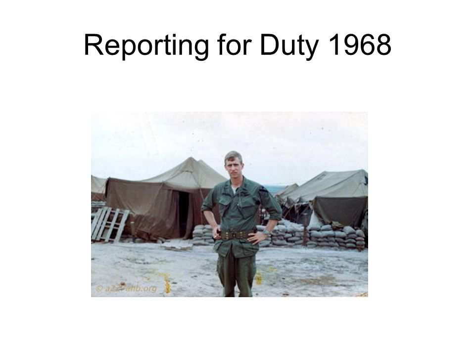 Reporting for Duty 1968