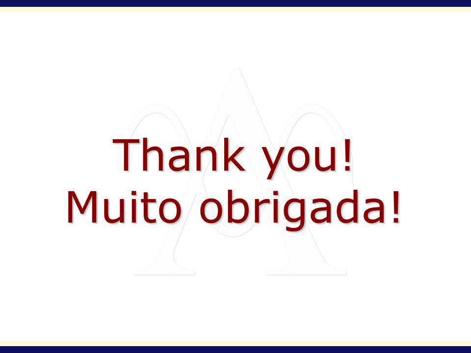 Thank you! Muito obrigada!